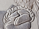 Talon Detail of Embossed Falcon