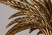 Detail of Gold Foil Embossed Falconry Hood Feathers