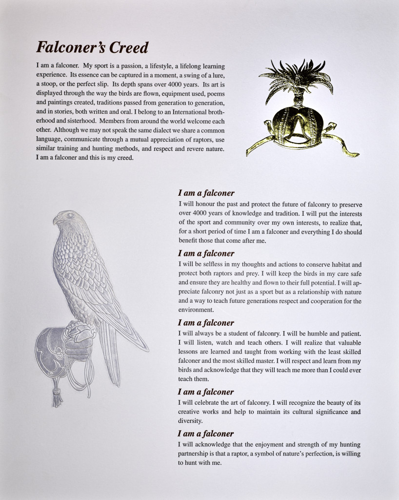 Falconer's Creed